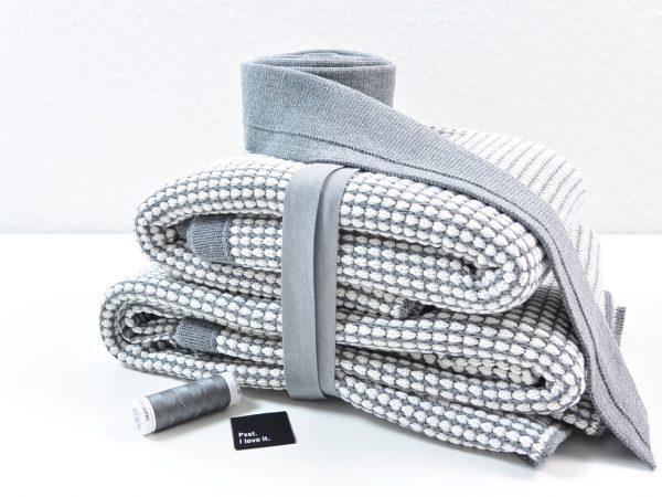 DIY Kit Honeycombjacket grey