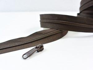 Reißverschluss Meterware braun | ohne Zipper