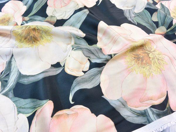 Fibremood Viskose Satin Flower Jungle