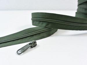 Reißverschluss Meterware dunkelgrün | ohne Zipper