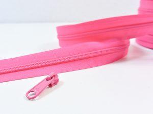 Reißverschluss Meterware pink | ohne Zipper