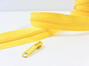 Reißverschluss Meterware gelb | ohne Zipper