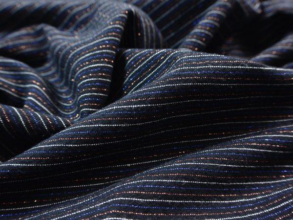 Soft Cotton Sparkling Pinstripe almost black