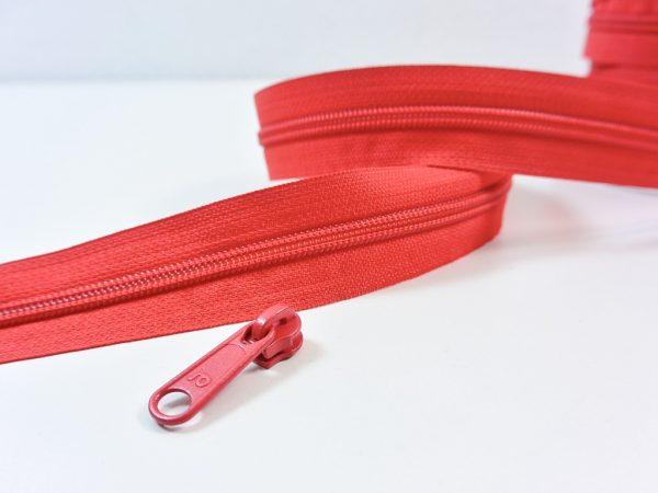 Reißverschluss Meterware rot | ohne Zipper