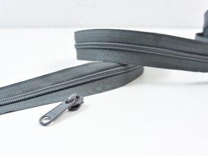 Reißverschluss Meterware grau | ohne Zipper
