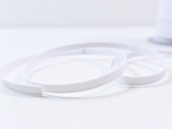 Gummiband weiß 6 mm breit