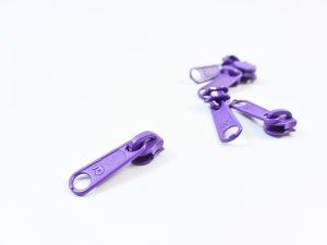 Zipper für Reißverschluss Meterware lila