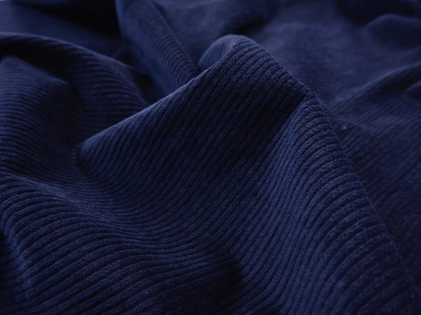 Premium Soft Stretch Cord mittelbreit navy