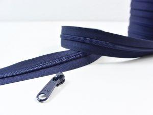 Reißverschluss Meterware dunkelblau | ohne Zipper