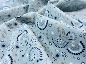 Baumwolle Vintage Flower dusty blue