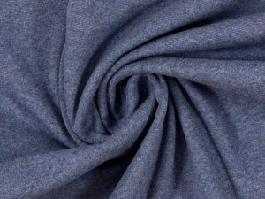 Glatter Bündchenstoff dunkelblau meliert