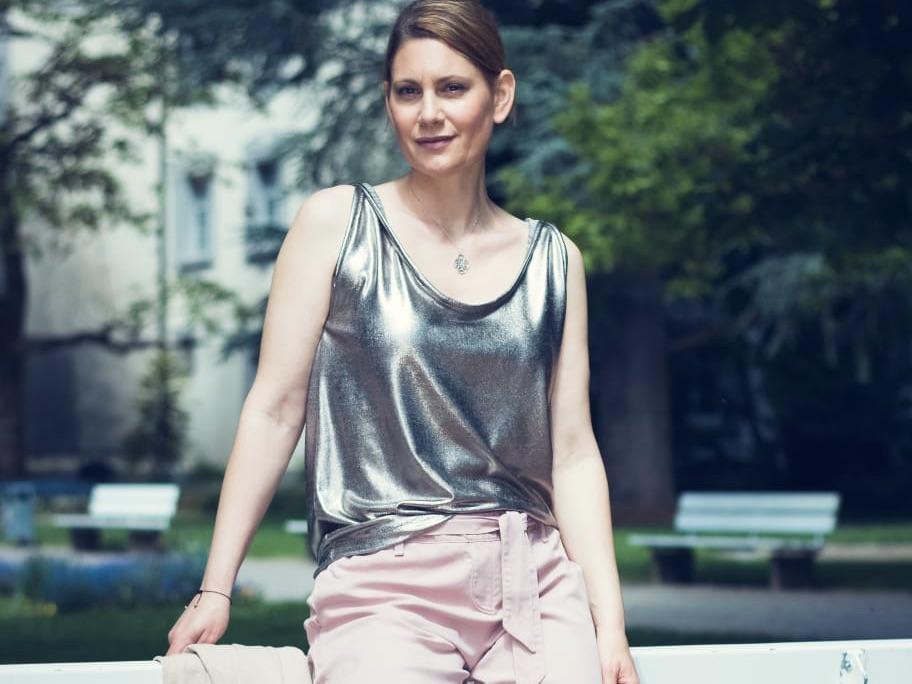 Weekend Wardrobe Bundle Plus | Soft Metallic Jersey Top