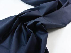 Stretch Popeline nachtblau | Italienischer Designerstoff