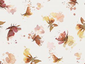 Jersey Stoff Butterflies nature