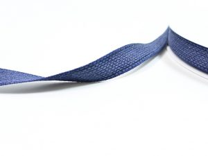 Flachkordel Denim Look jeansblau