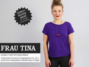 Studio Schnittreif | Basicshirt Frau Tina Papierschnittmuster
