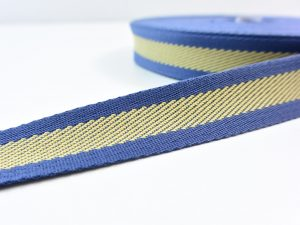 clarasstoffe Gurtband 30 mm | blueberry mustard