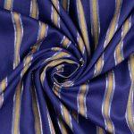 Viskose Sparkle Woven Fashion Stripes | lapis