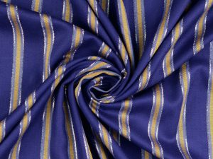 Viskose Sparkle Woven Fashion Stripes | lapis