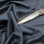 Hochwertiger Schurwolle Stretch Hosenstoff | grey melange