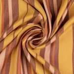 Viskose Soft Woven Fashion Stripes | curry