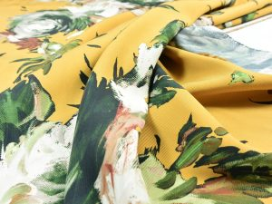 Fibremood Viskose Twill | Painted Flowers | honey