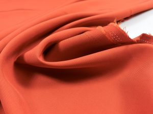 Slope Striped Viskose Twill | tomato