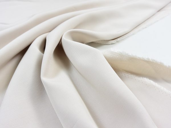 Slope Striped Viskose Twill | white sand