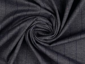 Punto di Roma Fashion Stretch Jersey   Blue Herringbone