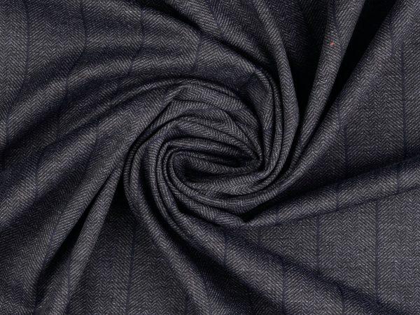 Punto di Roma Fashion Stretch Jersey | Blue Herringbone