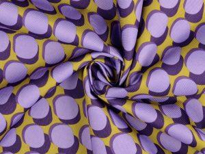 Coated Canvas | Bubble Dots lavender