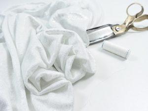 Leichter Leinen Strick | silber weiß
