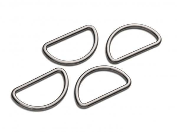 4 D-Ringe für Taschen 30 mm gunmetal