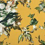 Fibremood Viskose Twill | Painted Flowers | honey