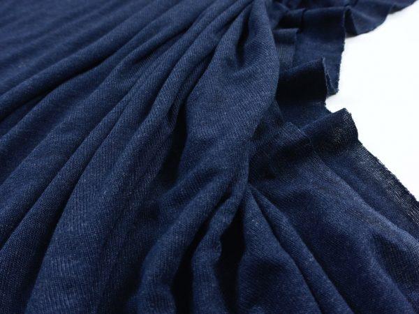Leichter Viskose Strick indigo rk blue