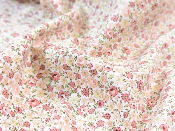 Baumwoll Webware   Milles Fleurs peach