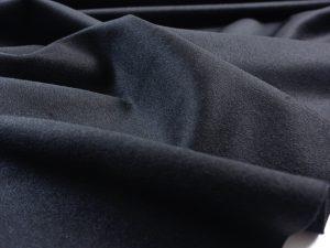 Italienischer Mantelstoff mit Wolle | schwarz