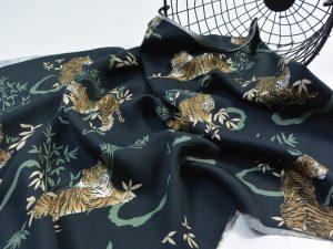 Premium Soft Touch Viskose   Tiger black
