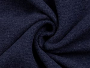 Bono | Angerauter Baumwoll Feinstrick | dunkelblau
