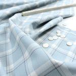 Soft Cotton | Fineline Check | sky