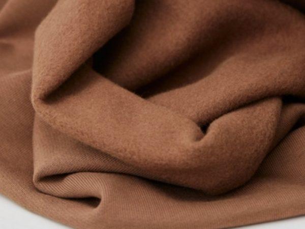 Organic Basic Brushed Sweat | dust brown