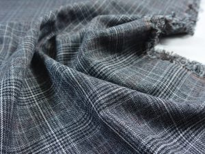 Soft Woven Stretch | Glencheck grey