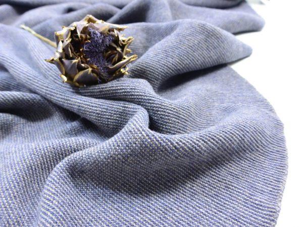 Soft Merino Knit | blue & taupe
