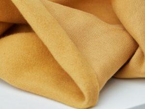 Organic Basic Brushed Sweat | dry mustard