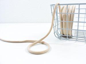 Soft Kordel metallisiert | light toffee