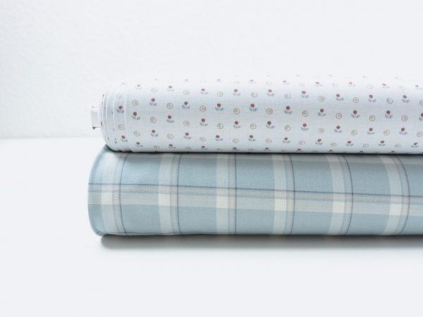 Soft Cotton | Tiny Flowers | ash blue