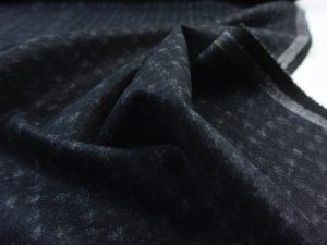 Punto di Roma Velvet Stretch Jersey | Black Squares White