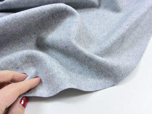 Italienischer Mantelstoff | Wolle und Kaschmir | grau meliert