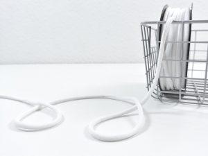 Soft Kordel metallisiert | milky white