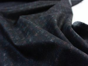 Punto di Roma Velvet Stretch Jersey | Black Squares Rouge